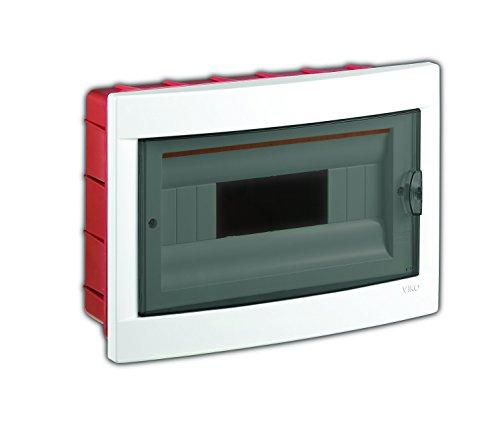 Unterputz Kleinverteiler 12 Module / Sicherungskasten /Verteilerkasten Unterputz IP40, 1-reihig mit Hutschiene + 1 stk. Klemme