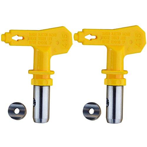 Jewboer 2 Pack Reversible Spray Tip Nozzle for Airless Paint Spray Guns and Airless Sprayer Spraying Machine (515)