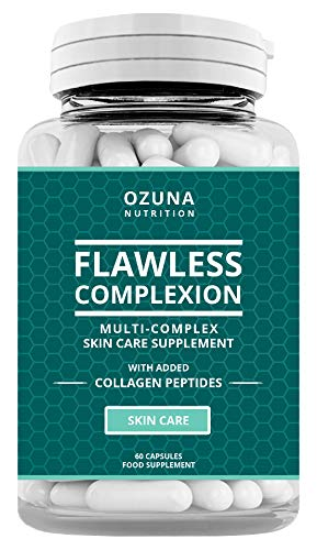 Flawless Clear Skin Supplement - Glowing Complexion | Multi-Complex Capsules with Collagen Peptides | for Women & Men | One Month Supply