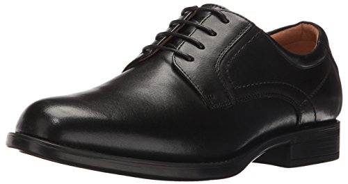 Florsheim Men's Medfield Plain Toe Oxford Dress Shoe, Black, 10.5 Wide