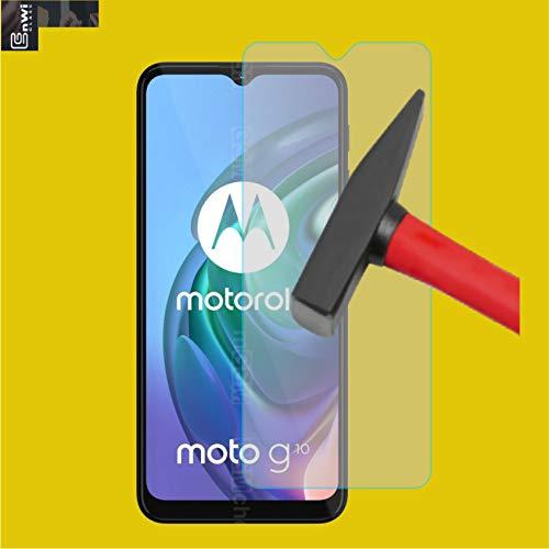 EnWi | 2X Panzer-Glas-Folie 9H Bildschirm-Schutz-Folie für Motorola Moto G10