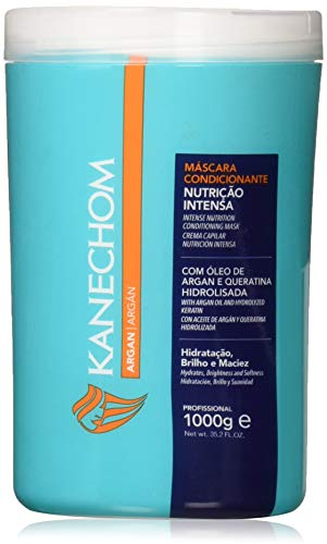 Kanechom Hair Treatment with Argan Oil 35.2oz | Creme de Tratamento com Oleo de Argan 1kg (Pack of 02)