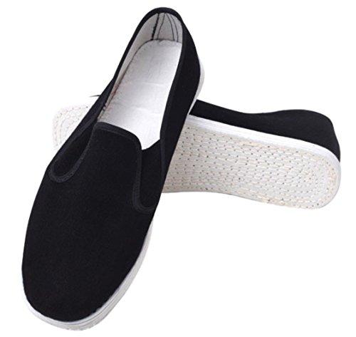 [RR.HRD] 中国式 伝統技法 千層底 布靴 カンフー シューズ 靴底 コットン 通気性 抜群 運転 室内履き 介護 など (36-23.0cm)