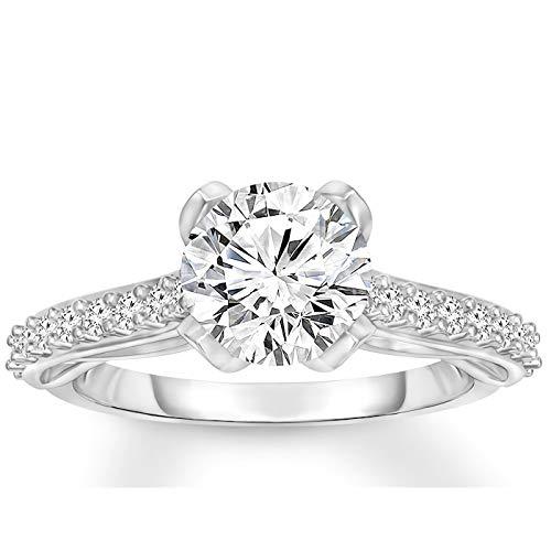 Engagement Ring 1-3/8 CT Moissanite Engagement Rings