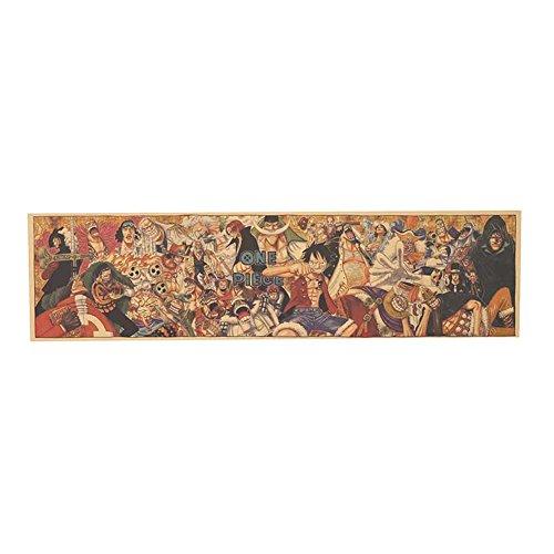 Coaste Antilane One Piece Poster / Wanddekoration / Wandaufkleber / Wandtattoo / Wandbilder, Bestes Geschenk für Kinder Jugendliche Männer und Anime-Fans (H01)