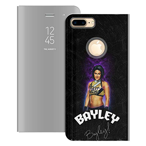 Head Case Designs Officially Licensed WWE Release Your Inner Bayley Silver Mirror Flip Stand Case Cover Compatible with Apple iPhone 6 Plus / 7 Plus / 8 Plus