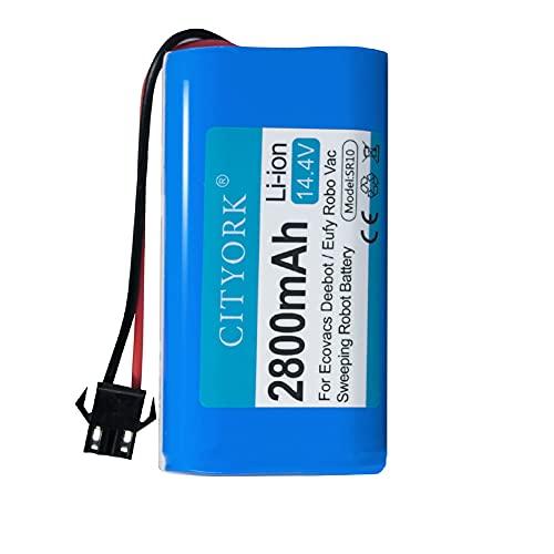 CITYORK Bateria de reposição de íon-lítio 14,4 V para Ecovacs Deebot N79S, Deebot N79, Deebot DN622 e Eufy RoboVac 11S, 11S MAX, RoboVac 15C MAX, RoboVac 30,2800mAh