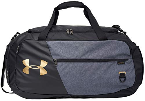 Under Armour Undeniable Duffle 4.0 Gym Bag, Black (003)/Metallic Gold Luster, Large