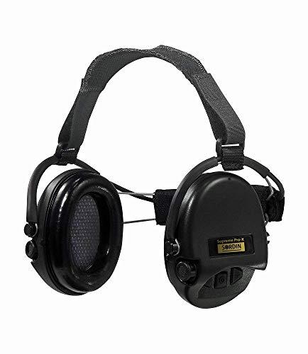 Sordin Supreme Pro X Neckband Cascos - Auriculares Ultrafinos Electrónicos | Orejeras de Protección Auditiva | Diseño Extraplano para Cazadores - Tiradores y Aficionados a la Caza - 76302-X-02