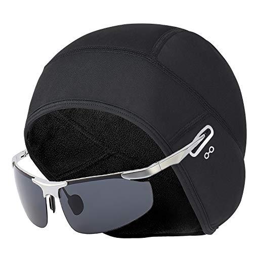 CHYSELCHY Helm Liner Cap mit Brille Loch (Black-Man)