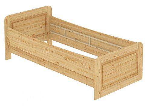 Erst-Holz® Seniorenbett extra hoch 100x200 Einzelbett Holzbett Gästebett Massivholz Kiefer Bett 60.42-10 oR