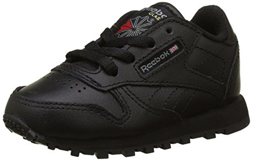 Reebok Classic Leather, Scarpe da Trail Running Unisex-Bimbi 0-24, Nero (Black), 25 EU