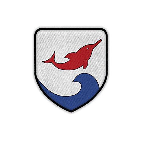 Copytec Patch/Aufnäher - Zerstörer Z4 D 178 Bundesmarine Fletcher-Klasse Zerstörergeschwader Deutsche Marine Bundeswehr BW Deutschland Militär Wappen Abzeichen Emblem #19438