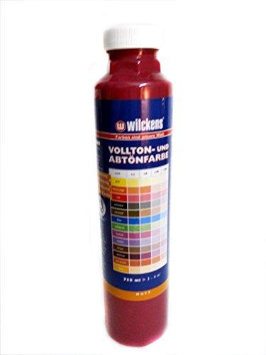 Qualitäts Abtoenfarbe - Volltonfarbe / 750 ml/matt - 14 Farben zur Auswahl (Weinrot)
