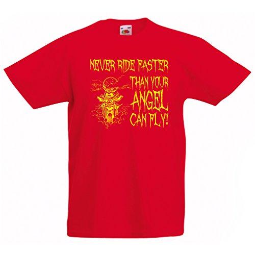 lepni.me Kids T-Shirt Rijd nooit sneller dan je engel kan vliegen
