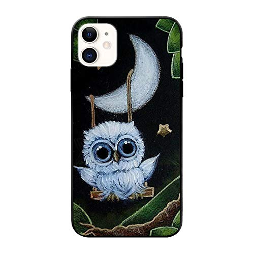 FancyCase Compatible with iPhone 11 Case-New Animal Style Soft Silicone Protective iPhone 11 Case (Moon Owl)