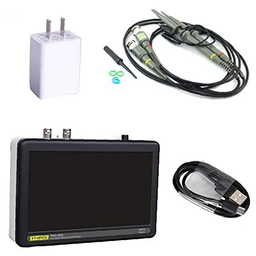 Osciloscopio digital FNIRSI 1013D 2 canal 1 GS/S LCD Pantalla táctil Tableta Osciloscopio 100MHz Ancho de banda Precisión negra