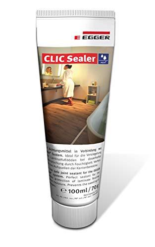 EGGER Bodenversiegelung Aqua+ Clic Sealer für Fugenversiegelung von Laminat wasserfest wasserresistent transparent - 100ml für 10m² Fläche