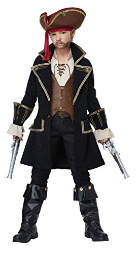 California Costumes Boys Deluxe Pirate Captain Child Costume