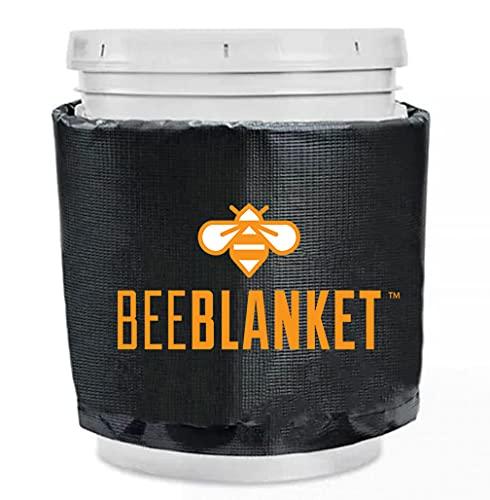Powerblanket BB05 Bee Blanket 5 gal Pail Heater, Honey/Bucket, 120W, 120V, Charcoal Gray