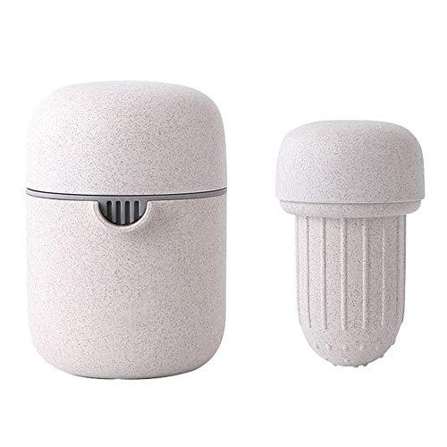 WEIFLY Entsafter Hand, Wassermelone Saft Orangensaft Schal der kleinen tragbaren Haushalt Entsafter Waschmaschine BPA, Gebraut mit Weizenstroh Biodegradable,Beige