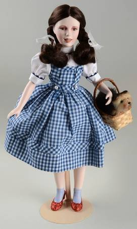 Franklin Heirloom Dolls - Judy Garland as DOROTHY in The Wizard of OZ - 17 inch tall Porcelain Doll