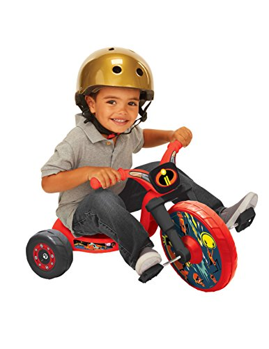 """The Incredibles 2 10"""" Fly Wheels Junior Cruiser Ride-on, Ages 2-4, Red/Black, 5.6 lbs. (1479)"""