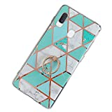 Robinsoni Case Compatible with Galaxy A30 Cover Silicone TPU Case Mirror Reflection Marble Case with Ring...