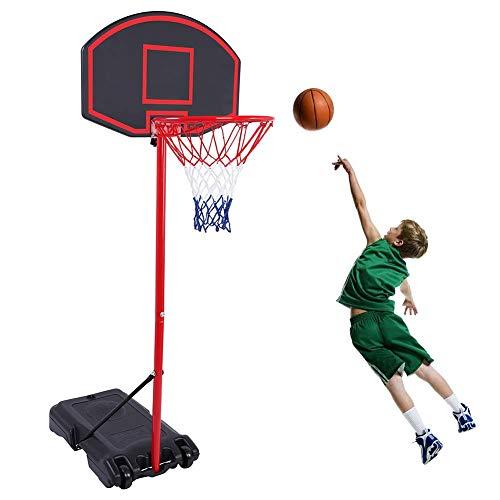 GreenGee Portable Basketball Hoop Portable Mini Basketball Hoop System for Kids(US Stock) Height Adjustable(5.8-7.4 ft) Basketball Hoop Indoor Outdoor Basketball Hoop System…