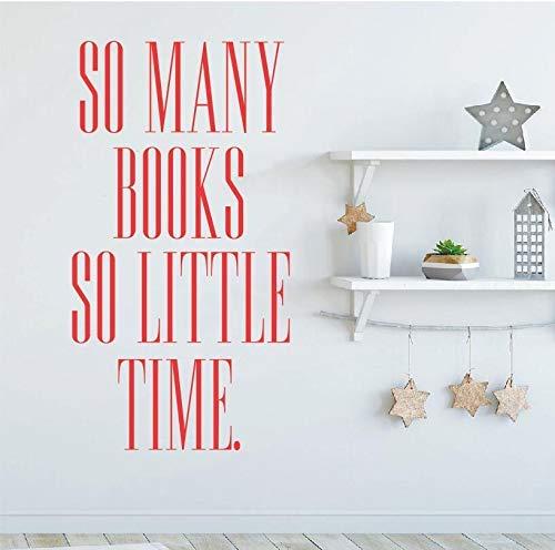 Art Home Decor So Molti Libri Cos & Igrave;Poco Tempo Adesivo Vinile Kamera Im Studio Biblioteca Decorazione Poster Murale 30 * 57Cm