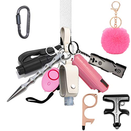 Self Defense Keychain for Women, Girls - Portable Protection Key Chain...
