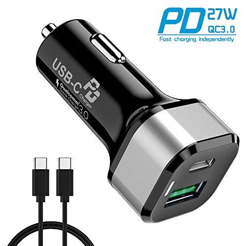 45W Cargador de Coche Carga Rapida, Avolare Quick Charge 3.0(Puerto USB A...