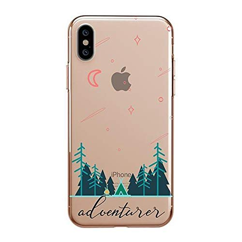 Milkyway Clear Case Compatible with iPhone Xs MAX Clear Case Design Protective Back Case Cover for Apple iPhone Xs MAX [Supports Wireless Charging] - Adventurer
