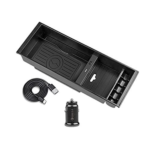 GANG Cargador inalámbrico QI Teléfono inalámbrico Accesorios de Placa de Carga Centro Console Box Box Fit para Ford F-150 2015-2020 (Color: Negro) (Color : Black, Size : A)