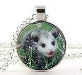 Opossum Halskette, süße rosa Nase, Baby-Opossum-Halskette