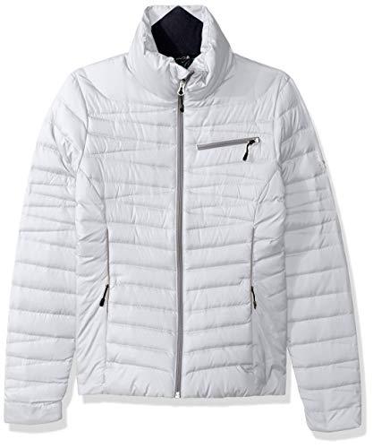 Spyder Timeless Down Jacket Abrigos de plumón, Mujer, Blanco/Aleación, L