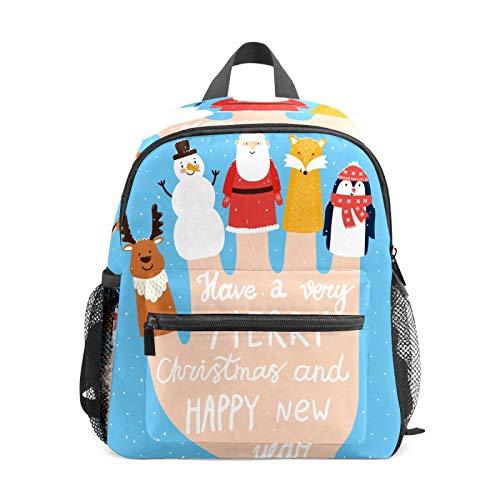 Mochila infantil para niños de 1 a 6 años de edad, mochila perfecta para niños y niñas, juguete para manos de jardín de infantes, juguete de Navidad, renos, nieve