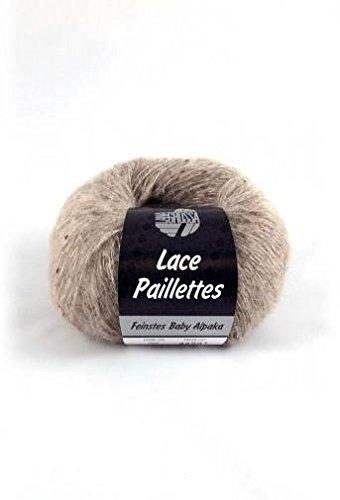 Lana Grossa Lace Paillettes 002 Taupe