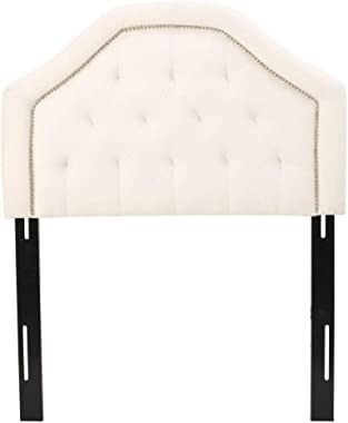 Christopher Knight Home Daphne Fabric Kid's Headboard, Twin, Ivory