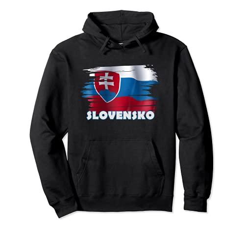 Slowakei Fanartikel Slovensko Pullover Hoodie