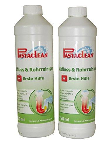 Pastaclean Abfluss & Rohrreiniger Erste Hilfe 2x 750 mL