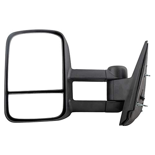 BOXI Left Driver Side Manual Telescopic Towing Mirror Compatible with 2007-2013 Chevy Silverado Sierra Pickup Truck Driver Side -Manual, Non-Heated, Non-Folding GM1320337 20862094