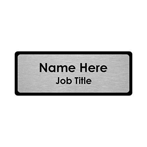 Odznaka z imieniem premium czarna ramka