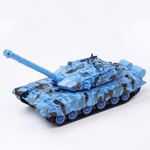 Lihgfw Hauptkampf-Tank Großer Anti-Fall-Sound und leichte Trägheitstank-Rakete-Automodell for Kinderspielzeug-Geschenke geeignet (Color : Blau)
