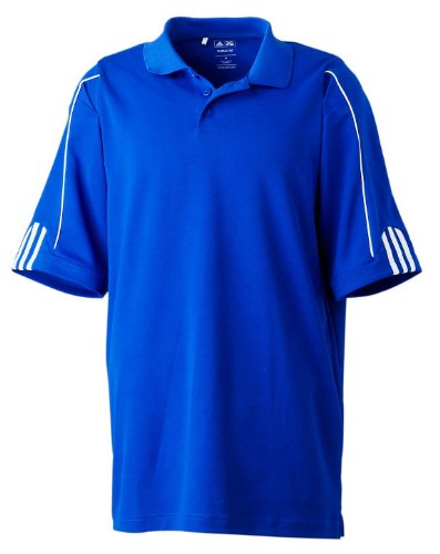 Adidas Polo texturé ClimaCool Uni S Bleu - Bleu roi/blanc