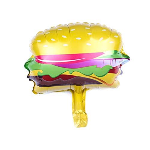 YSCSPQA Luftballons 2 stücke Mini eisfolie Ballon Geburtstag Kuchen Donut Pizza Food Ballon Geburtstag Party dekor aufblasbare Spielzeug Kugel (Color : Hamburg)