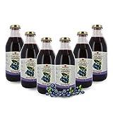 Zumo de Arándanos Ecológico - Sin Azúcares Añadidos - 6 Botellas de 750ml