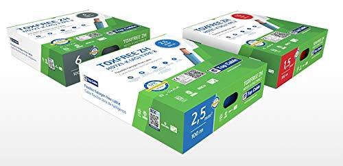 Hilo libre de halógenos de 4mm en caja de 100m (Azul)