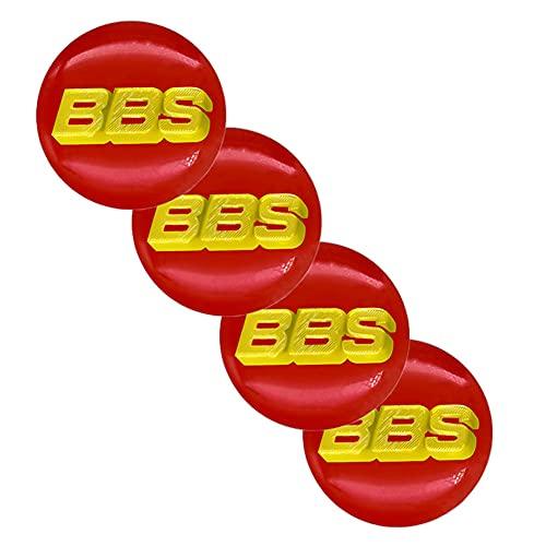 WFLOV Pegatinas De Cubierta De Tapas De Cubo De Centro De Rueda con Emblema De Logotipo De Coche 65MM Adecuadas para BBS -Logo, Accesorios De Estilo De Coche, 4 Piezas