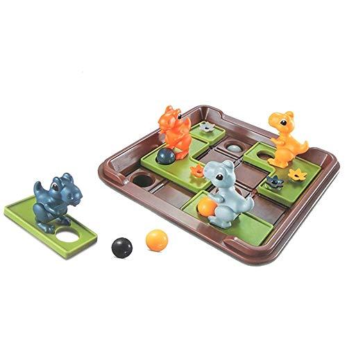 DHFD Smart Games Dinosaurier Mobile Geheimnisvolle Inseln, Puzzle Brettspiel Reflexion Spiel, Für Wettbewerb Logik Argumentation Training Spaß, 26x18,5x7 cm
